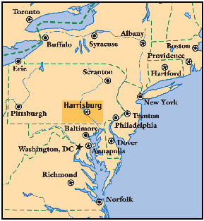 PA Golf Packages And Pennsylvania Golf Courses Dutch Country - Detailed map of pa
